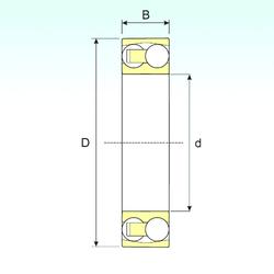 95,25 mm x 168,275 mm x 41,275 mm T ISB 1314 Self Aligning Ball Bearings