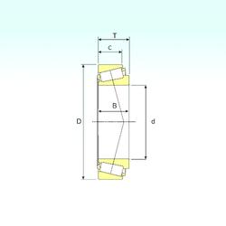 Width (mm) ISB 30220 Tapered Roller Bearings