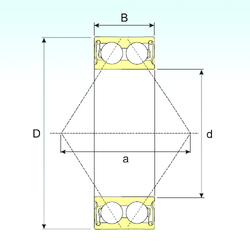 52,388 mm x 93,264 mm x 30,302 mm Characteristic cage frequency, FTF ISB 3212-2RS Angular Contact Ball Bearings