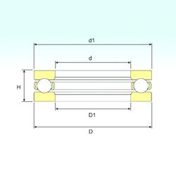 180 mm x 280 mm x 74 mm Brand ISB 51201 Thrust Ball Bearings