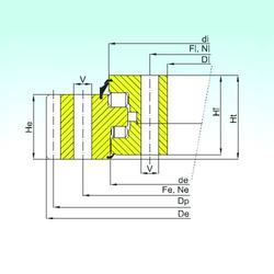 90 mm x 225 mm x 54 mm d ISB ER3.25.1800.400-1SPPN Thrust Roller Bearings