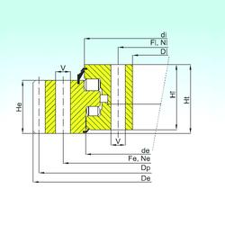 7,938 mm x 31,991 mm x 10,785 mm D ISB ER3.32.2800.400-1SPPN Thrust Roller Bearings