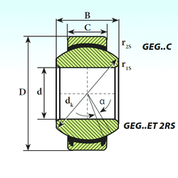 200 mm x 280 mm x 51 mm Width (mm) ISB GEG 4 C Plain Bearings