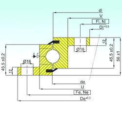 340 mm x 520 mm x 133 mm Bearing number ISB NBL.20.0644.200-1PPN Thrust Ball Bearings