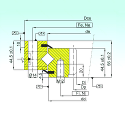 A1 ISB ZR1.14.0744.201-3SPTN Thrust Roller Bearings