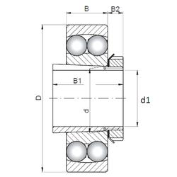 50 mm x 80 mm x 16 mm D ISO 2309K+H2309 Self Aligning Ball Bearings
