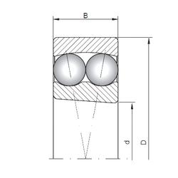 55 mm x 96,838 mm x 29,5 mm Width (mm) ISO 2316K Self Aligning Ball Bearings