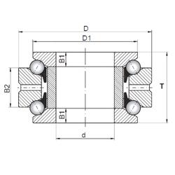 Size (mm) ISO 234715 Thrust Ball Bearings