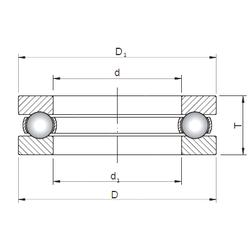 15,875 mm x 40 mm x 23,8 mm M ISO 51230 Thrust Ball Bearings