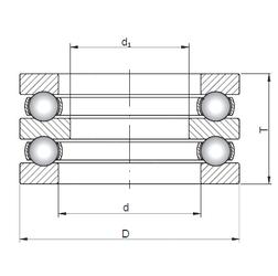 150 mm x 225 mm x 35 mm Weight ISO 52409 Thrust Ball Bearings