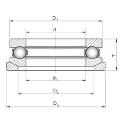 30 mm x 47 mm x 23 mm OIL rpm ISO 53406U+U406 Thrust Ball Bearings