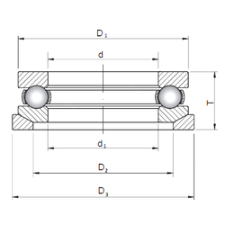 900 mm x 1 280 mm x 280 mm da min. ISO 53407U+U307 Thrust Ball Bearings