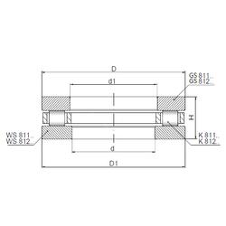 Fw ISO 81106 Thrust Roller Bearings