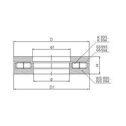 8,000 mm x 22,000 mm x 7,000 mm Minimum Buy Quantity ISO 89448 Thrust Roller Bearings