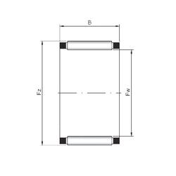 70 mm x 125 mm x 39,69 mm d ISO K45x53x22 Needle Roller Bearings