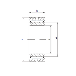85 mm x 180 mm x 41 mm B ISO NA6901 Needle Roller Bearings
