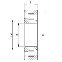 Reference speed ISO NJ3318 Cylindrical Roller Bearings