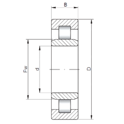 44,45 mm x 104,775 mm x 36,512 mm C ISO NU228 Cylindrical Roller Bearings