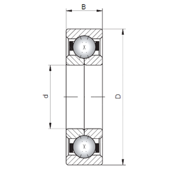 90 mm x 170 mm x 50 mm Brand ISO QJ1020 Angular Contact Ball Bearings