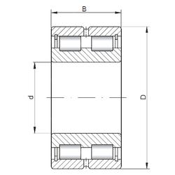 dk ISO SL024964 Cylindrical Roller Bearings