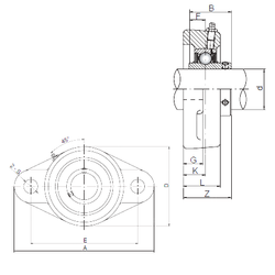 Bearing number ISO UCFL310 Bearing Units