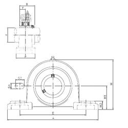 ℓ ISO UCP312 Bearing Units