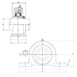 17 mm x 30 mm x 14 mm Category ISO UKP218 Bearing Units