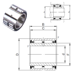 Bearing number JNS NA 6910UU Needle Roller Bearings