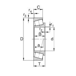 18 mm x 42 mm x 18 mm Basic static load rating (C0) KBC 32210J Tapered Roller Bearings