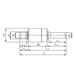 36,512 mm x 76,2 mm x 28,575 mm Brand KBC RW428601 Complex Bearings