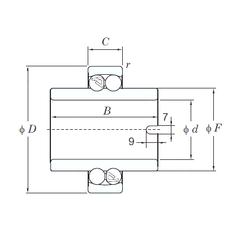 25,4 mm x 63,5 mm x 19,05 mm Bore Diameter (mm) KOYO 11309 Self Aligning Ball Bearings