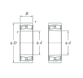 133,35 mm x 196,85 mm x 46,038 mm Bore Diameter (mm) KOYO 23036RHK Spherical Roller Bearings
