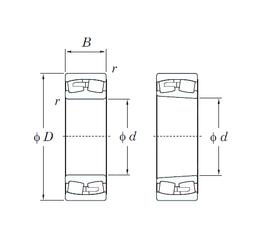 75 mm x 130 mm x 25 mm ra max. KOYO 23148RK Spherical Roller Bearings