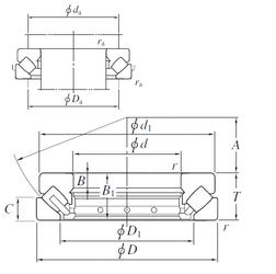 55,5625 mm x 120 mm x 66 mm B KOYO 29334A Thrust Roller Bearings