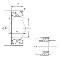 95 mm x 145 mm x 24 mm Brand KOYO 3218 Angular Contact Ball Bearings