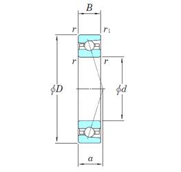 34,925 mm x 76,2 mm x 28,575 mm Basic static load rating (C0) KOYO 3NCHAC914CA Angular Contact Ball Bearings