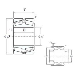 114.300 mm x 212.725 mm x 66.675 mm r2 min. KOYO 45340 Tapered Roller Bearings