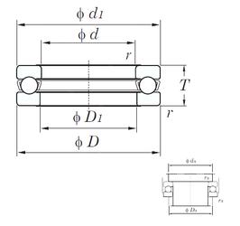 105 mm x 130 mm x 13 mm Size (mm) KOYO 51309 Thrust Ball Bearings
