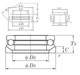 40 mm x 68 mm x 21 mm Outer Diameter (mm) KOYO 53226U Thrust Ball Bearings