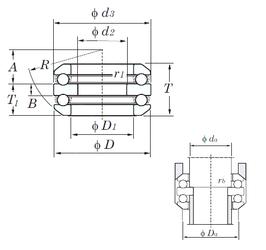 130 mm x 180 mm x 50 mm Outer Diameter (mm) KOYO 54405 Thrust Ball Bearings