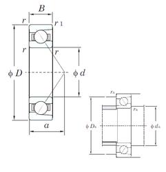 1,397 mm x 4,762 mm x 2,779 mm Bearing number KOYO 7030C Angular Contact Ball Bearings