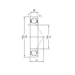 5 mm x 19 mm x 6 mm C KOYO AC7652AB Angular Contact Ball Bearings