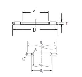 95,25 mm x 171,45 mm x 28,58 mm Width (mm) KOYO AXK3047 Needle Roller Bearings