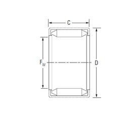 1000 mm x 1320 mm x 185 mm r4 min. KOYO BH1812 Needle Roller Bearings