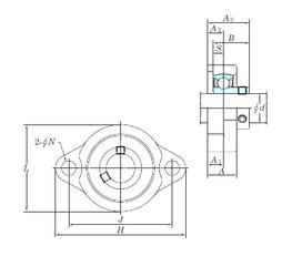 30 mm x 72 mm x 19 mm Basic static load rating (C0) KOYO BLF205-16 Bearing Units