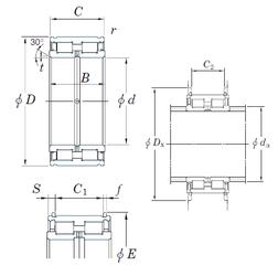 320 mm x 580 mm x 92 mm Brand KOYO DC5052NR Cylindrical Roller Bearings