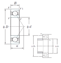 63,5 mm x 110 mm x 21,996 mm ALP22 KOYO HAR030C Angular Contact Ball Bearings