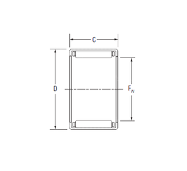 30 mm x 90 mm x 23 mm Bore Diameter (mm) KOYO J-1210 Needle Roller Bearings