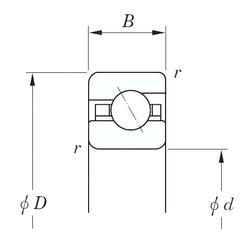 Width (mm) KOYO KAA120 Angular Contact Ball Bearings