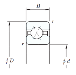 38 mm x 63 mm x 17 mm Basic static load rating (C0) KOYO KAX042 Angular Contact Ball Bearings